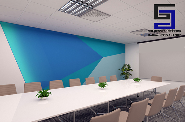 The process of interior design meeting room