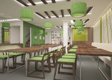 thiết kế nhà hàng cuốn n roll