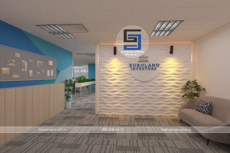 thiết kế văn phòng công ty euroland