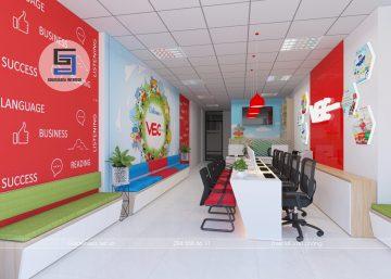 Thiết kế trung tâm anh ngữ VEC
