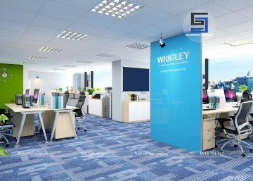Thiết kế và thi công văn phòng công ty Wrigley